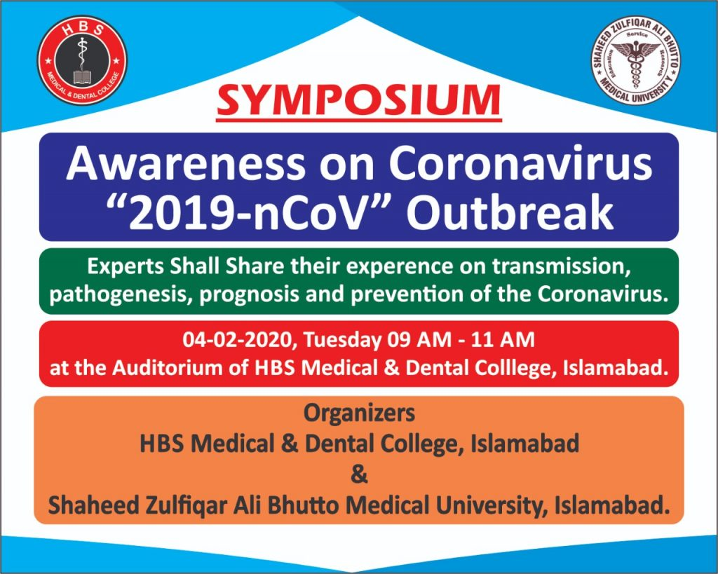 "Symposium – Awareness on Corona Virus ""2019-nCov"" Outbreak"